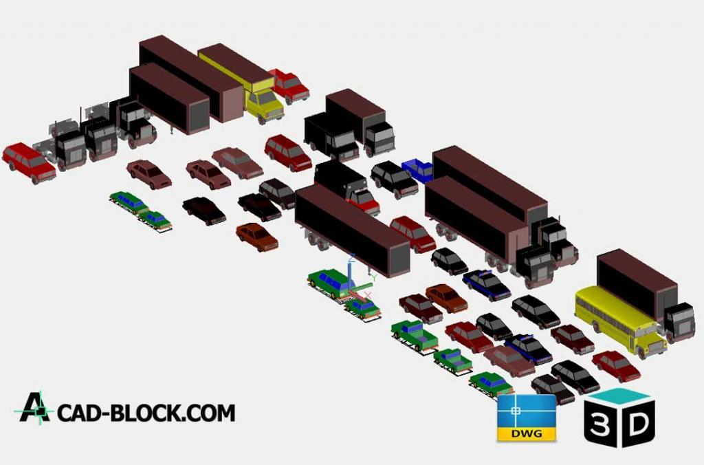 3D Vehicles Autocad Model DWG