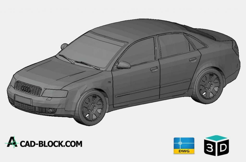 Audi A4 3D DWG