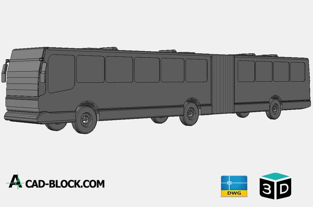 Bendy bus 3D DWG