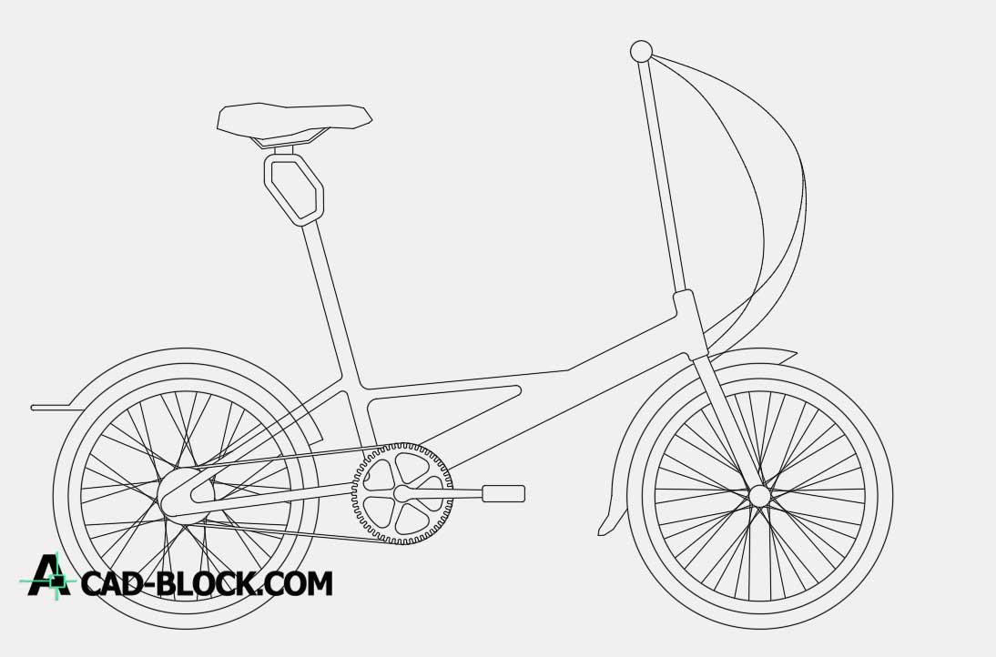 Bike for a walk dwg