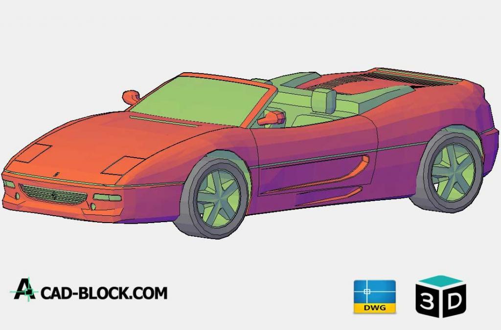 Ferrari 360 Spider 3D DWG