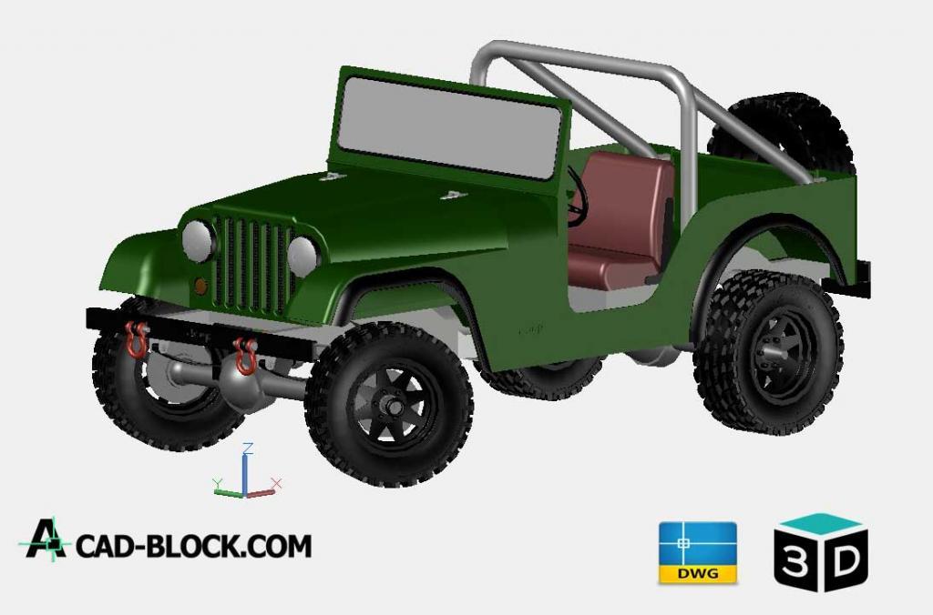Cad Jeep 3d Dwg Free Cad Blocks