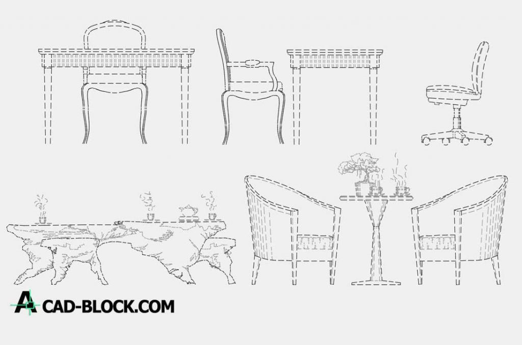 Leisure table and chair dwg