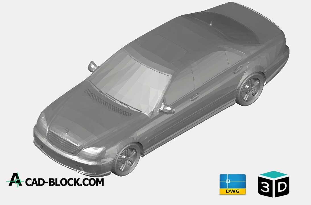 Mercedes S65 3D DWG