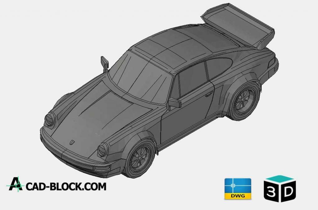 Porsche 911 Turbo 3D DWG