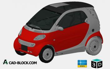Smart Fortwo 3D DWG