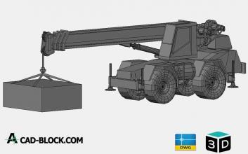 Truck-crane-3D-CAD