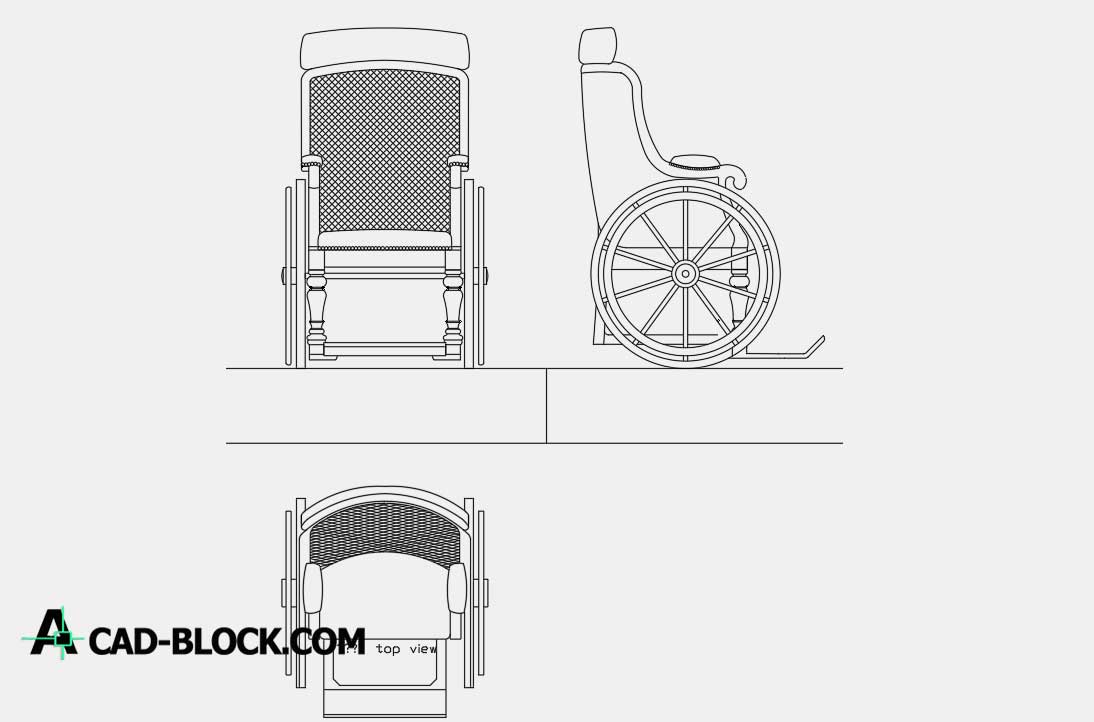 Wheelchair dwg
