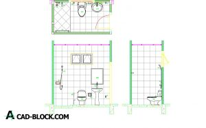 Bathroom Layout dwg in Autocad