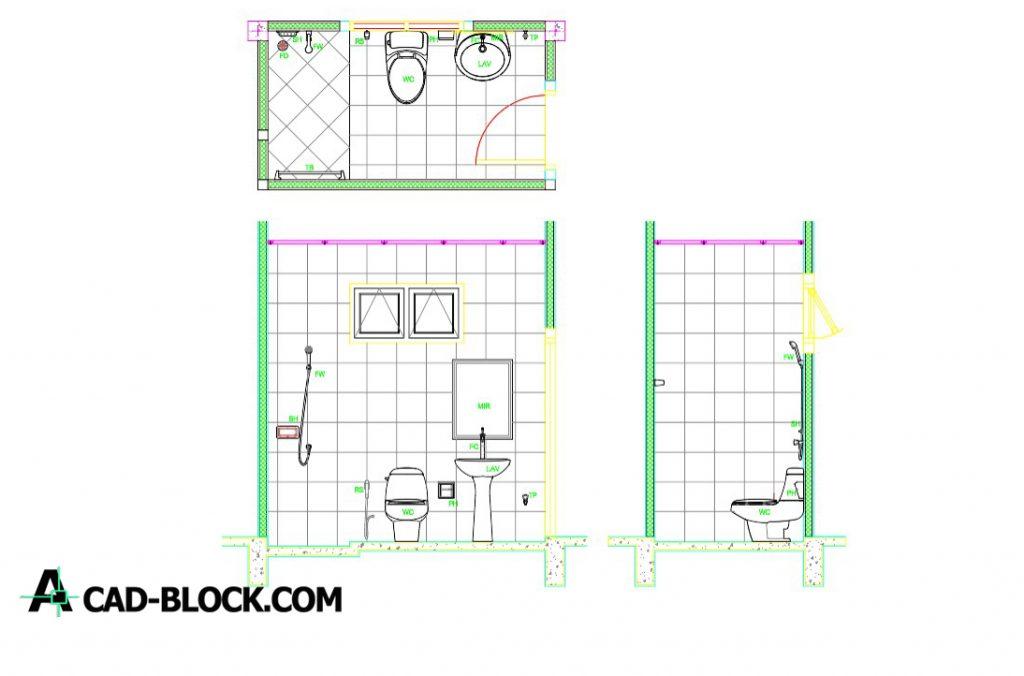 Bathroom Cad Blocks Dwg Free Cad Model 2d Cad