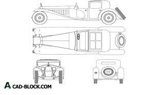 Bugatti Royale DWG in Autocad