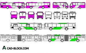 Free Bus CAD dwg in Autocad 2D