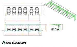 Car Park dwg in Autocad