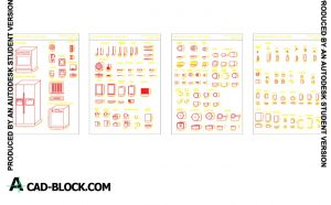 Free Furniture kitchen blocks dwg for Autocad