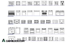 Free Kitchen blocks dwg for Autocad