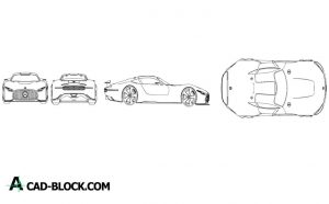 Mercedes benz gt dwg Free in Autocad