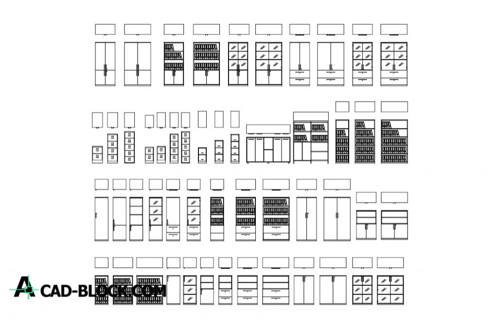Cad Office File Cabinets Dwg Free Download In Autocad Dwg