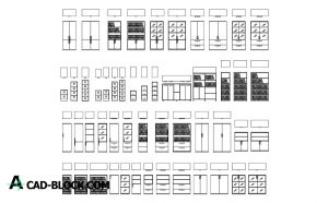 Office File Cabinets dwg in Autocad