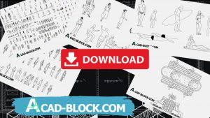 People cad blocks free in Autocad - CAD People Dwg in Autocad 2007 2D