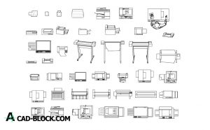 Photocopier CAD Blocks in Autocad