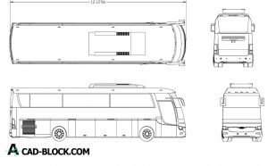 Free Tourist bus dwg for Autocad