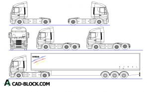 Trucks dwg in Autocad