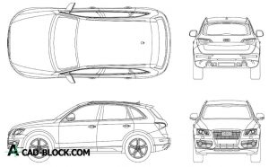 Audi Q5 Dwg cad blocks in Autocad