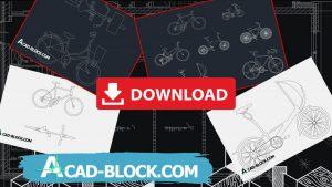 Bike cad block in Autocad bicycle cad block