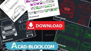 Car CAD block in Autocad DWG Free Download