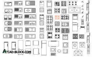 Kitchen cad blocks in Autocad DWG
