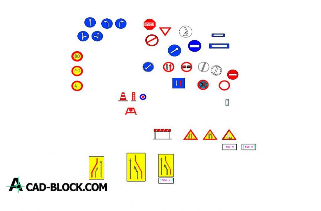 2d traffic signals dwg in Autocad