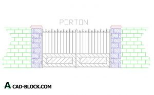 Design gate cad blocks in Autocad