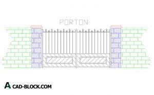 Design gate cad blocks in Autocad