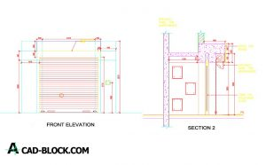 Detail roll curtain dwg in Autocad