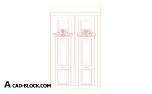 Door former mansion dwg in Autocad