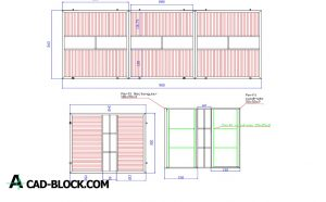 Fire station gate dwg in Autocad