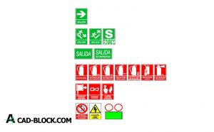 Firefighters signage dwg in Autocad