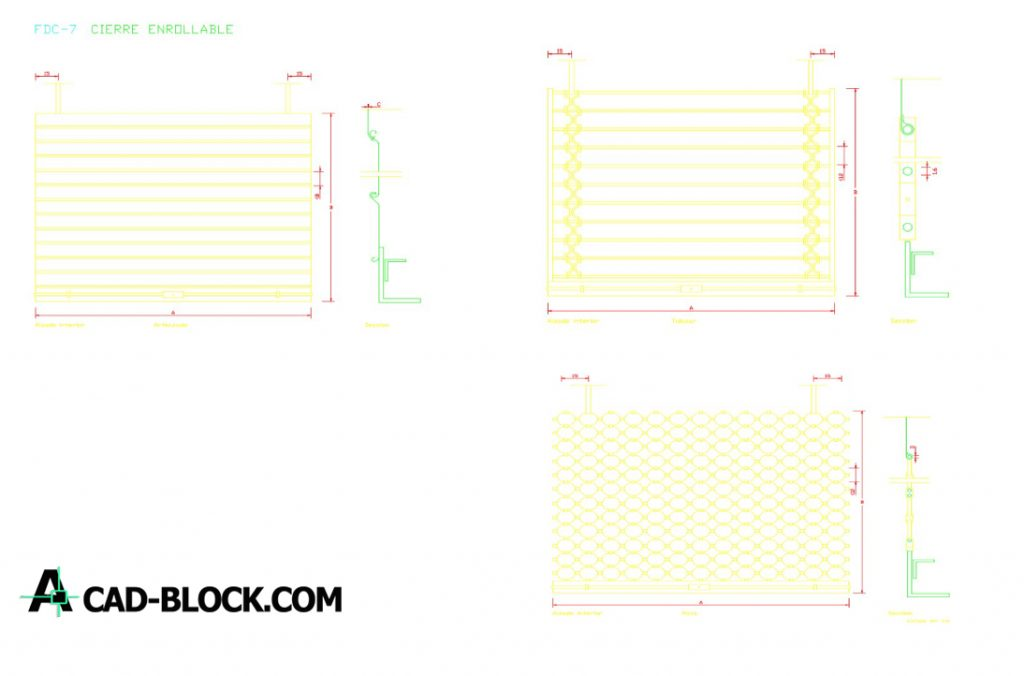 Gate details dwg in Autocad