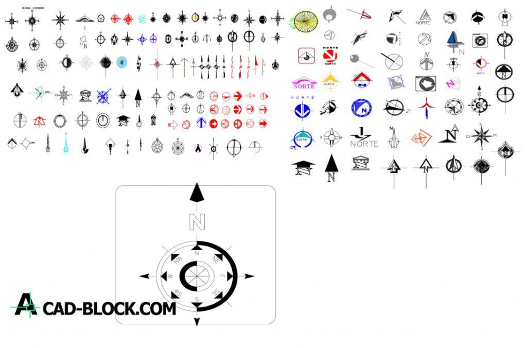 North simbolos dwg in Autocad
