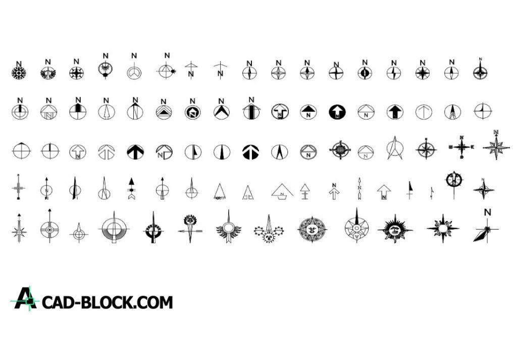 North symbols dwg in Autocad