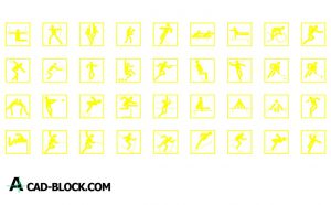 Pictogram sport dwg in Autocad