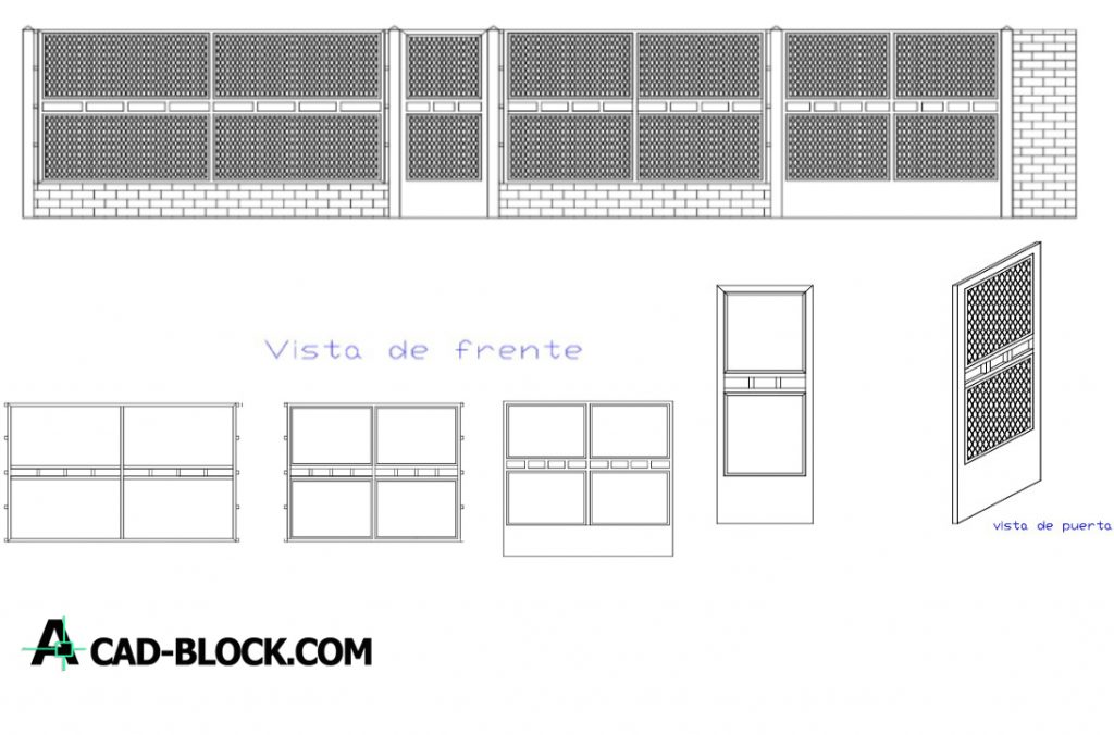 Porton for front of house dwg in Autocad