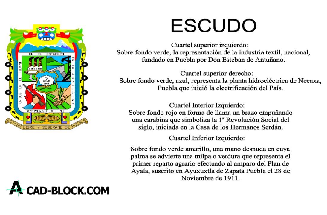 Puebla logo dwg in Autocad