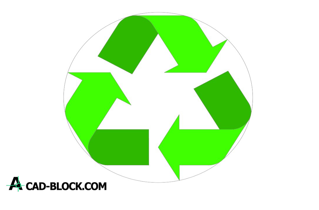 Recycle logo dwg drawing