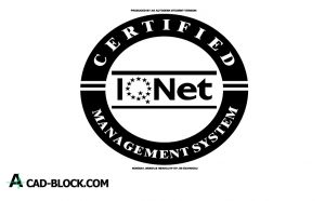 Seal logo iqnet dwg drawing