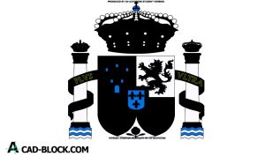 Shield of spain dwg download