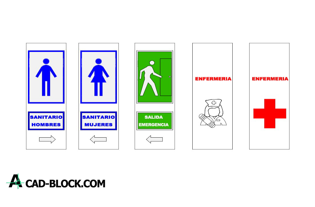 Signs informational dwg download