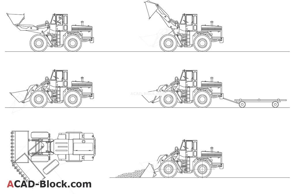 Excavators free AutoCAD file