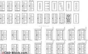 Door design in DWG