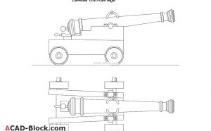 Gun Carriage DWG file